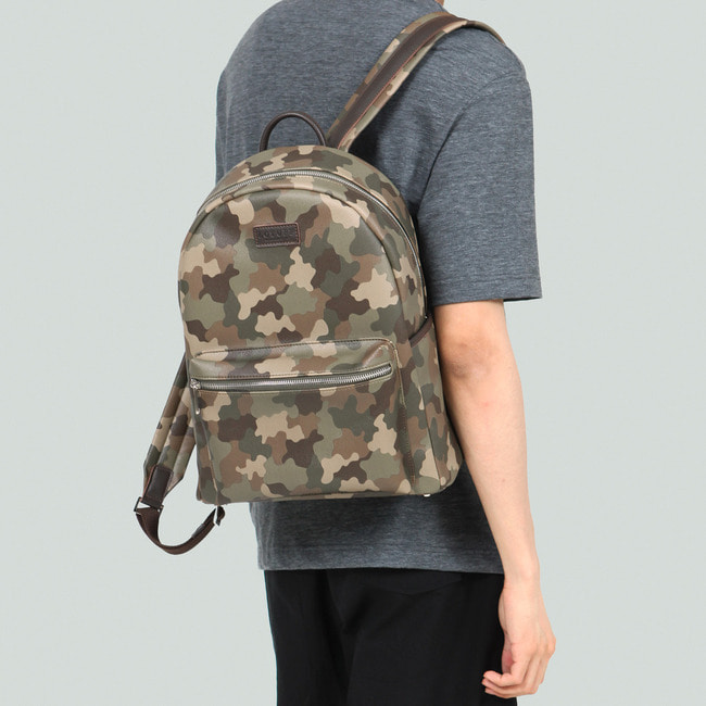 CAMOUFLAGE LEATHER & PU LEATHER BACKPACK